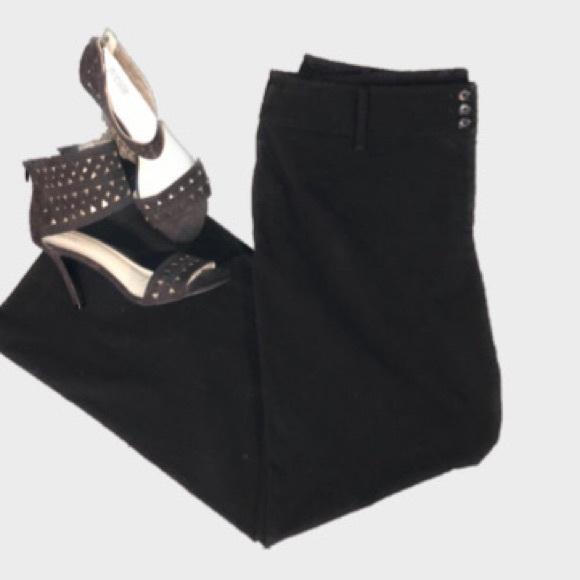 Plus size- Ann Taylor LOFT Julie Black Slacks